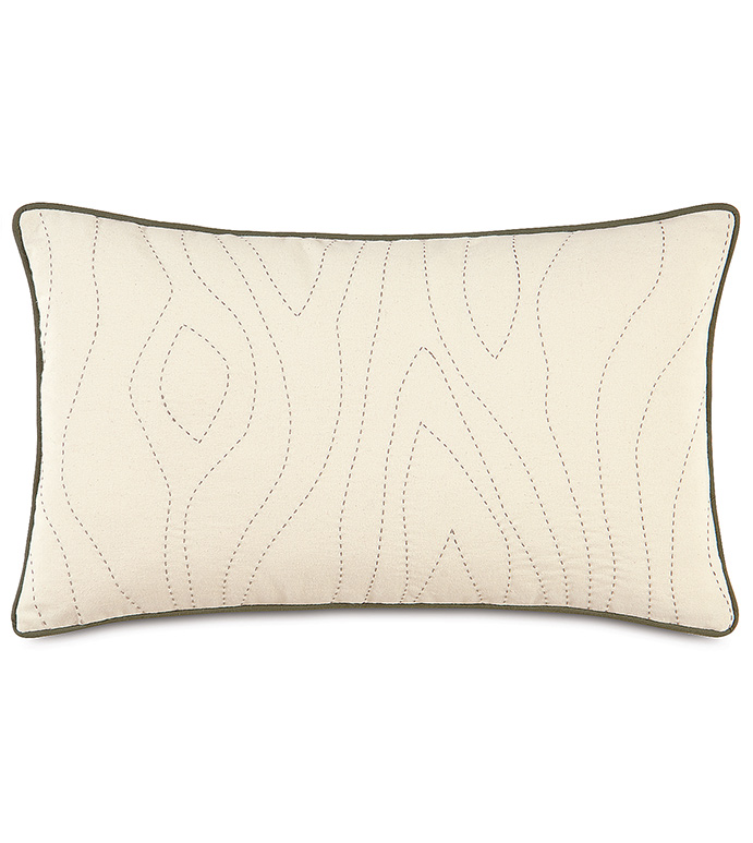 ADLER NATURAL BOLSTER - tan graphic bolster,tan and brown bolster,natural,earth tone,muted,wood pattern,wood grain design,wood design pillow,ivory graphic pillow,hand stitched,running stitched pillow,welt