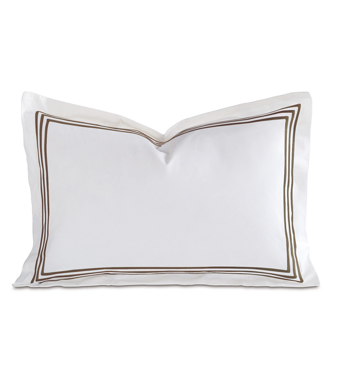 TESSA WHITE/BROWN BOUDOIR SHAM - ,