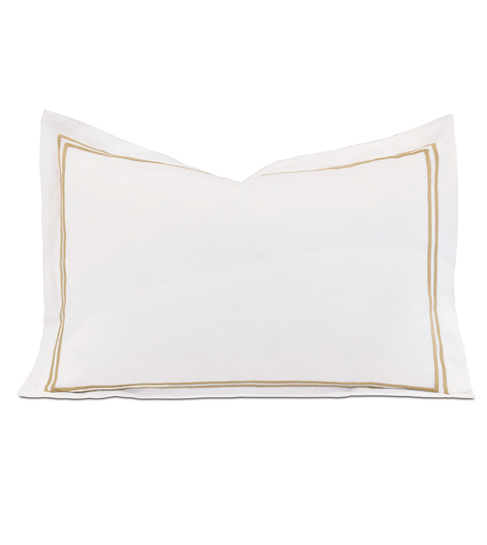 ENZO WHITE/ANTIQUE BOUDOIR SHAM - ,