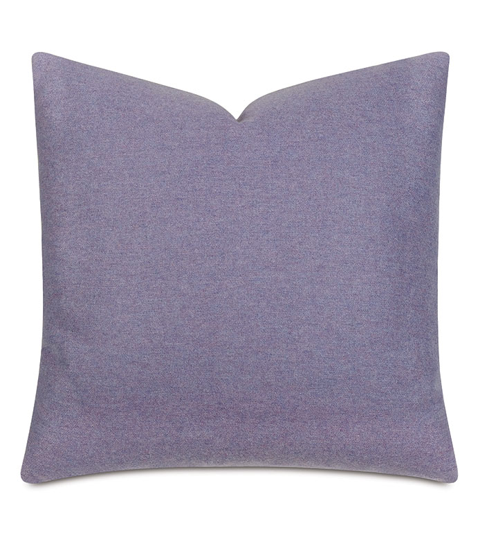 Vincent Textured Decorative Pillow In Lilac - wool,heathered wool,textured,cozy,pillow,decorative pillow,accent pillow,throw pillow,purple,purple pillow,purple wool,purple textured pillow,cozy purple pillow,22x22,square