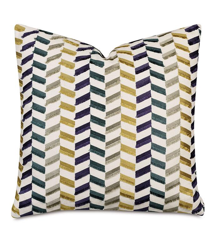 Sassy Broken Chevron Decorative Pillow Eastern Accents