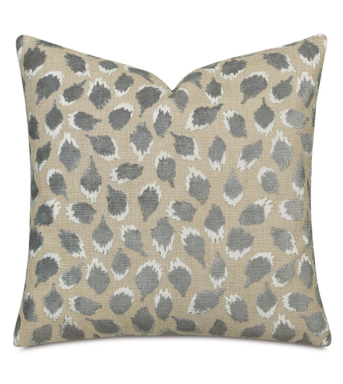 OCELOT DECORATIVE PILLOW IN SILVER