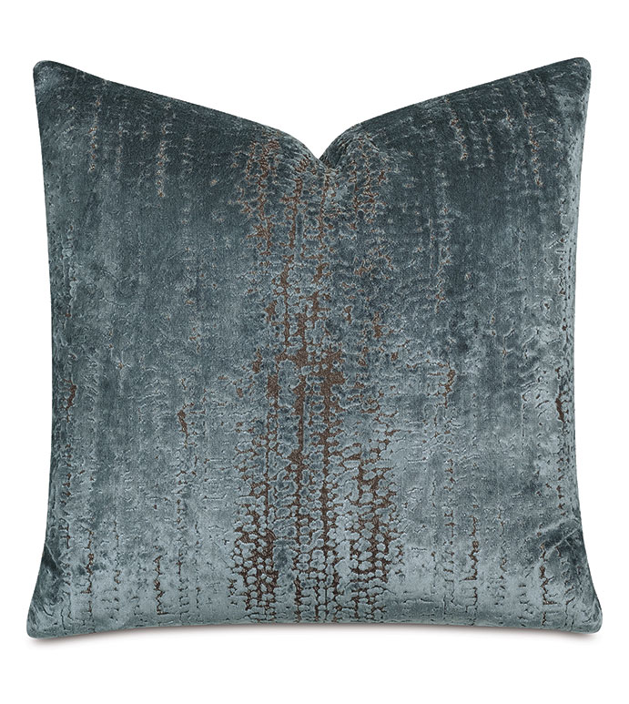 Focaccia Decorative Pillow In Light Blue Eastern Accents