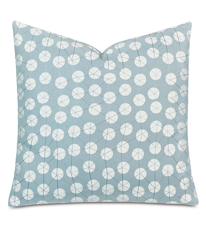 Ollie Embroidered Decorative Pillow In Spa Eastern Accents