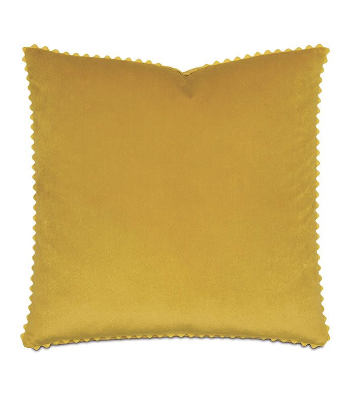 Nellis Curry WITH ric rac - PILLOW,GOLD PILLOW,TOSS CUSHION,THROW PILLOW,VELVET PILLOW,CUSTOMIZABLE PILLOW,DOUBLE SIDED PILLOW,RIC RAC PILLOW,CELERIE KEMBLE PILLOW,FEATHER PILLOW,TRADITIONAL PILLOW