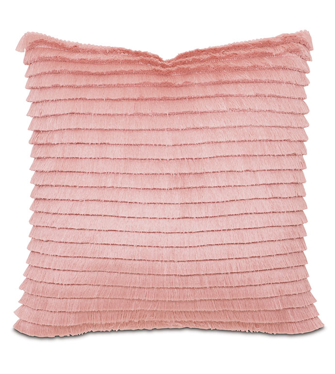 Baldwin White WITH brush fringe - PILLOW,FRINGE PILLOW,BLUSH PILLOW,MILLENIAL PINK PILLOW,TOSS CUSHION,THROW PILLOW,ACCENT PILLOW,DOUBLE SIDED PILLOW,WHIMSICAL PILLOW,CELERIE KEMBLE PILLOW,DECORATIVE PILLOW