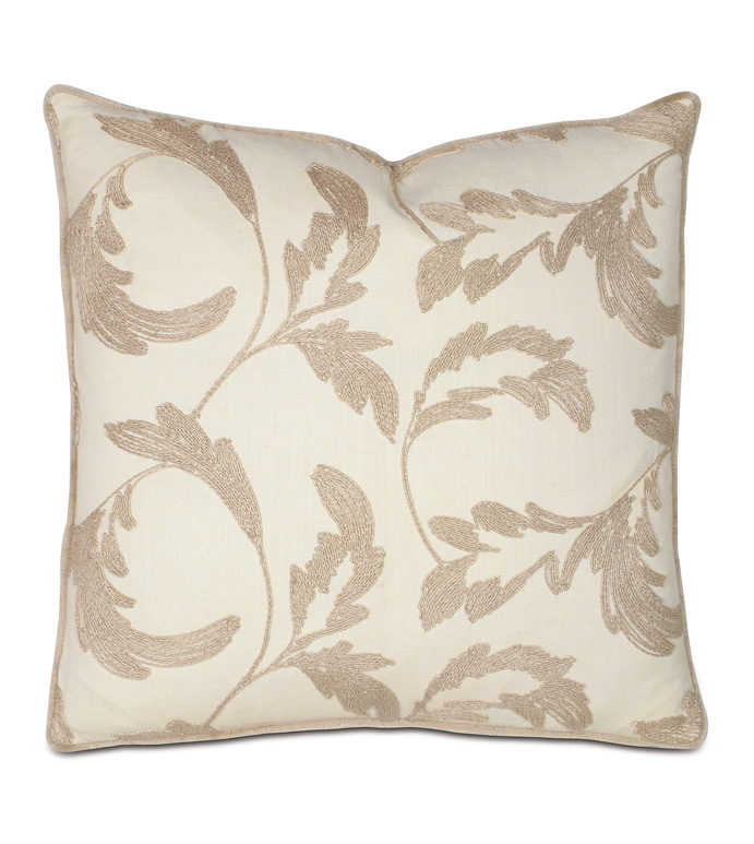 Boyer Natural WITH mini brush fringe - PILLOW,TOSS CUSHION,THROW PILLOW,SQUARE PILLOW,SCROLL LEAF PILLOW,FRINGE PILLOW,DOUBLE SIDED PILLOW,WHIMSICAL PILLOW,CELERIE KEMBLE PILLOW,ZIPPER CLOSURE PILLOW,MINI BRUSH FRINGE