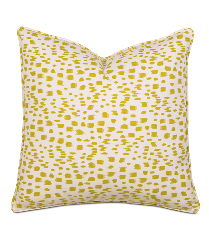 CARNIVAL CITRON WITH SM WELT - PILLOW,WHIMSICAL PILLOW,SQUARE PILLOW,TOSS CUSHION,THROW PILLOW,ACCENT PILLOW,DECORATIVE PILLOW,ACCCENT CUSHION,POLKA DOT PILLOW,FEMINE PILLOW,TROPICAL PILLOW,YELLOW PILLOW,CUSHION