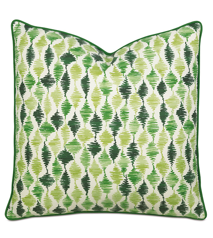 TROPICAL DREAMS EXTRA EURO SHAM - PILLOW,ABSTRACT PILLOW,SQUARE PILLOW,TOSS CUSHION,THROW PILLOW,ACCENT PILLOW,PRINTED COVERED PILLOW,GREEN PILLOW,DECORATIVE PILLOW,ACCCENT PILLOW,WHIMISCAL PILLOW,EXTRA EURO SHAM