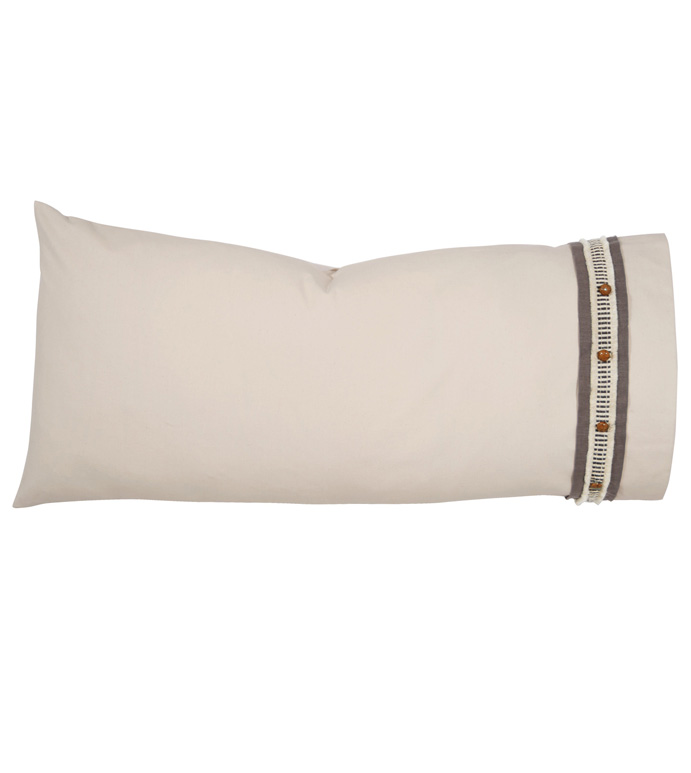 CANYON CLAY KING SHAM RIGHT - pillow,right pillow,throw pillow,king pillow,ranch pillow,decorative pillow,king sham pillow,button pillow,feather pillow,masculine pillow,rust pillow,toss cushion,king sham