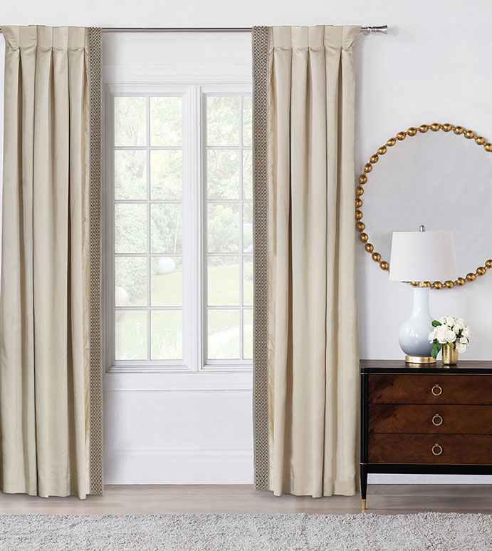 Silvio Beaded Curtain Panel Left