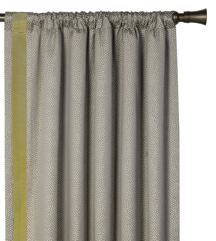 GARZA PEBBLE CURTAIN PANEL RIGHT - SILVER CURTAIN PANEL,METALLIC CURTAIN PANEL,GREY AND GREEN CURTAIN,SILVER DRAPERY,ECLECTIC CONTEMPORARY,GRAY ROD POCKET CURTAIN,SPECKLED GRAY,TAFFETA,FAUX SILK,URBAN STYLE,GLAM