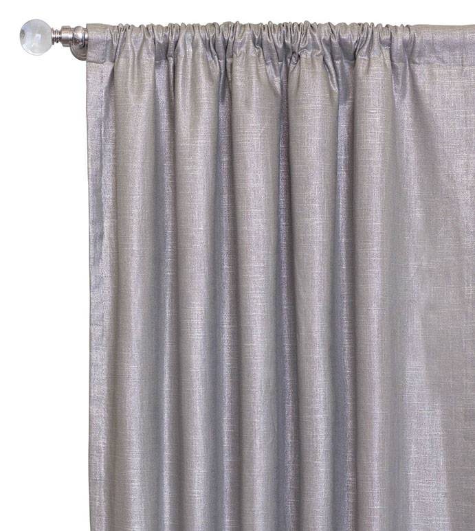 Reflection Taupe Curtain Panel - SILVER,TAUPE,GREY,DESIGN,GLAM,MODERN,METALLIC,BEDROOM,LUXURY BEDDING,INTERIOR DESIGN,MODERN,ROD POCKET,DRAPERY,CURTAIN,PANEL,WINDOW,WINDOW TREATMENT,SHINY,FEMININE,SOLID