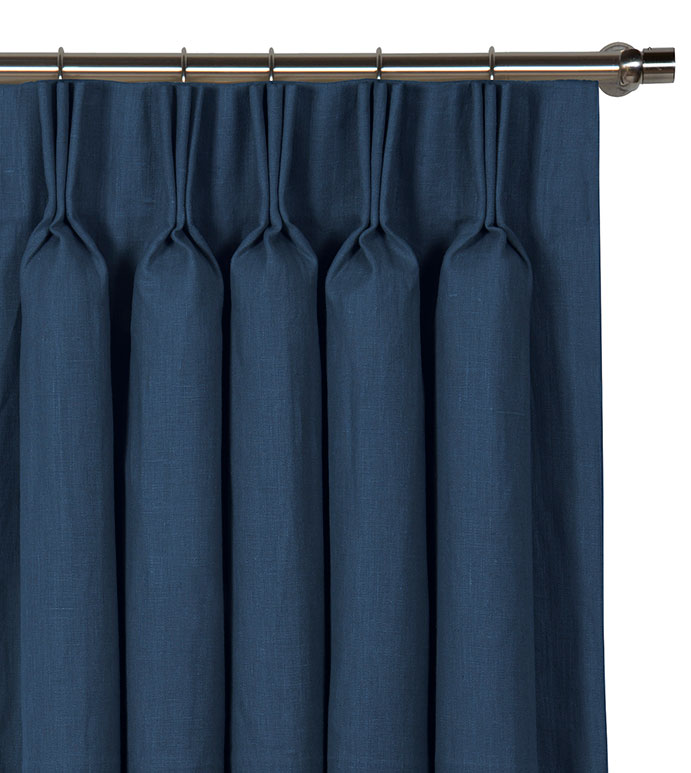 Breeze Indigo Curtain Panel - ,
