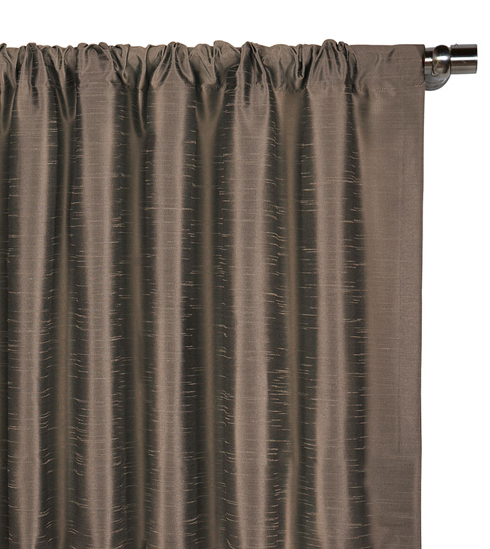 Edris Taupe Curtain Panel - ,