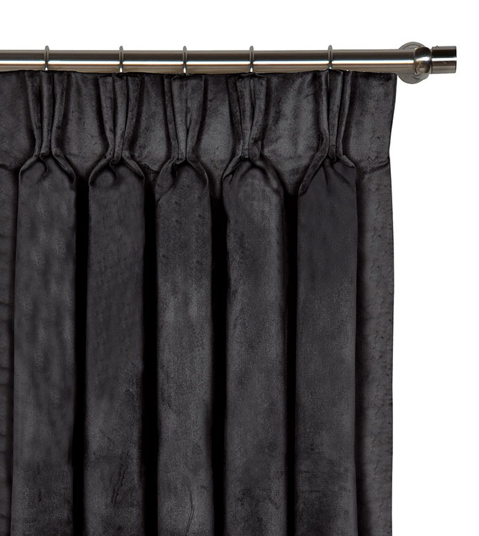 Nellis Charcoal Curtain Panel - ,