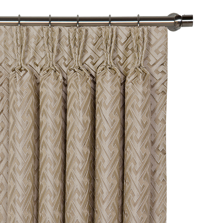Roscoe Taupe Curtain Panel - ,