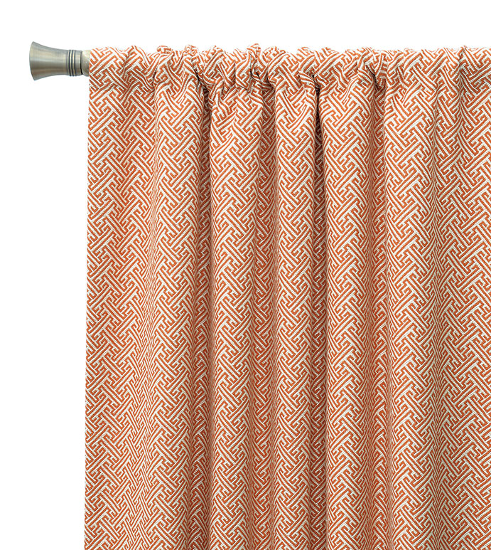 luxury bedding by eastern accents ingalls orange curtain panel