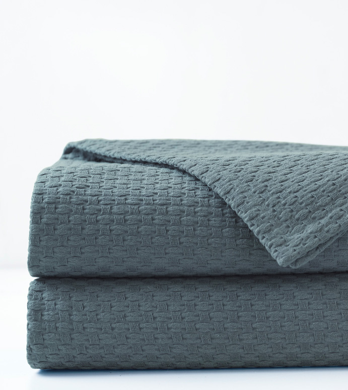 Tegan Matelasse Coverlet in Teal