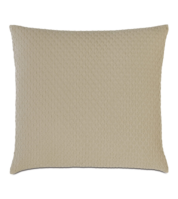 Tegan Matelasse Decorative Pillow in Sand - ,