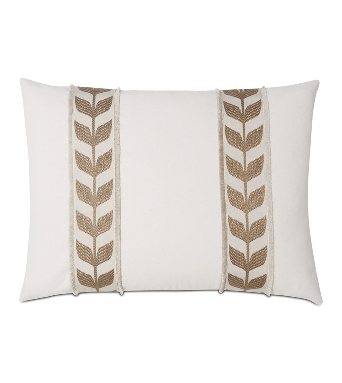 Akela Leaf Decorative Pillow In Gold - ,