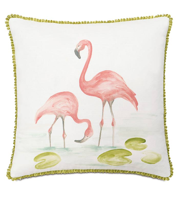 Hand-painted flamingos - ,