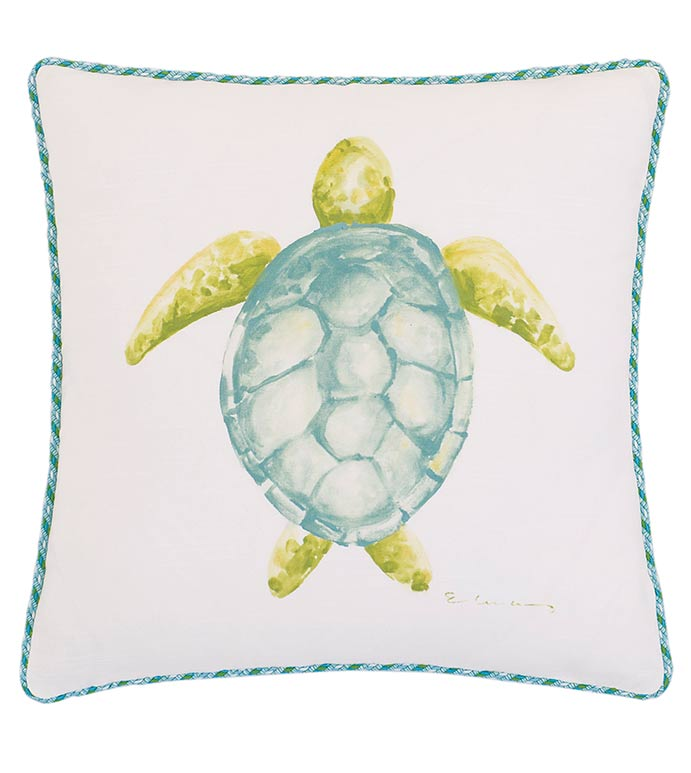 Hand-Painted Sea Turtle - ,