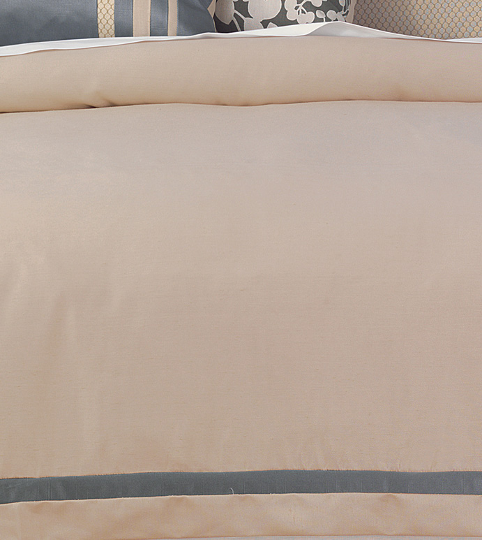 WITCOFF TAUPE DUVET COVER - ,