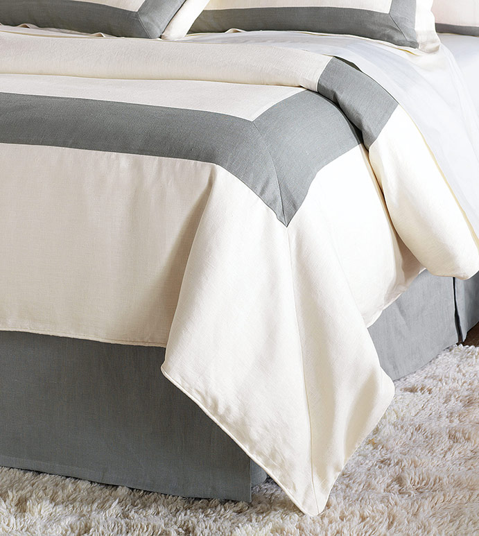 BREEZE PEARL/SLATE DUVET COVER - ,