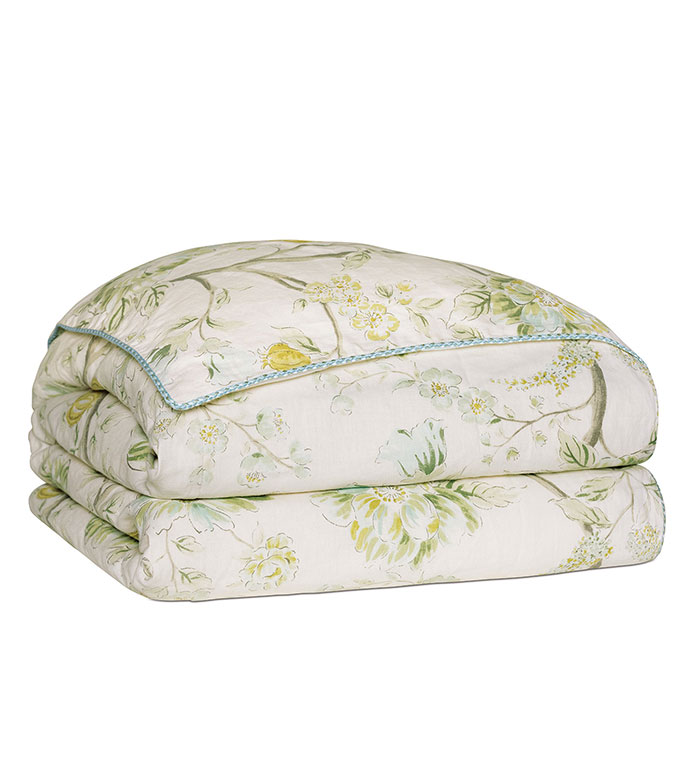 Magnolia Mint Duvet Cover - ,