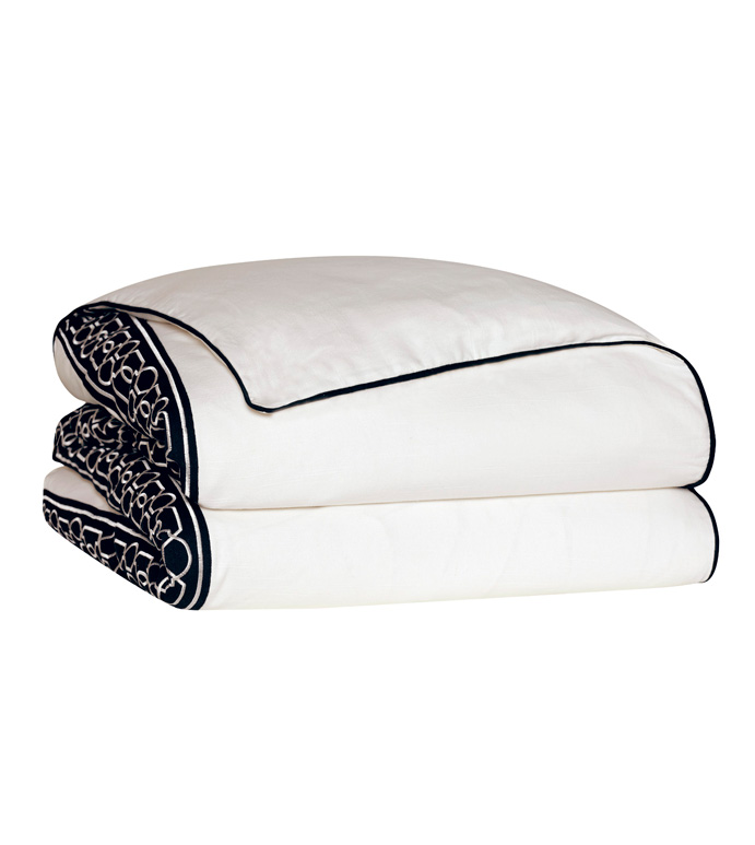 Baldwin White Duvet Cover - ,