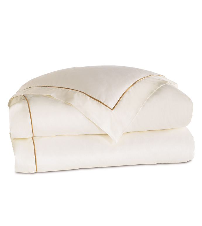 LINEA IVORY/ANTIQUE DUVET COVER - ,