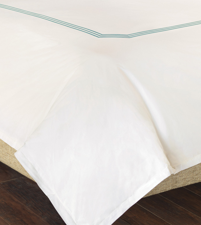 TESSA IVORY/LAKE DUVET COVER - ,