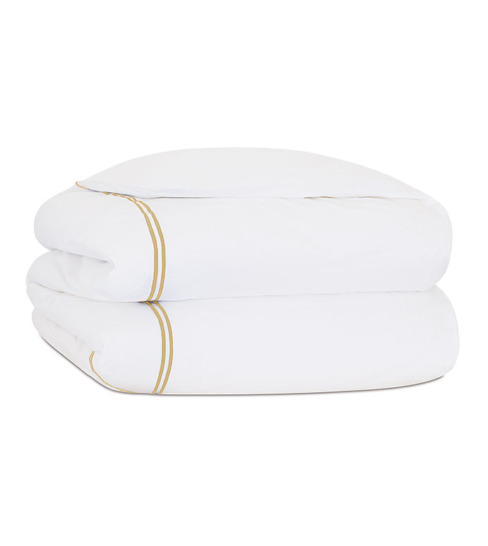 ENZO WHITE/ANTIQUE DUVET COVER - ,