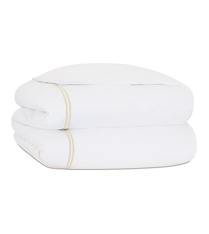 ENZO WHITE/BISQUE DUVET COVER - ,
