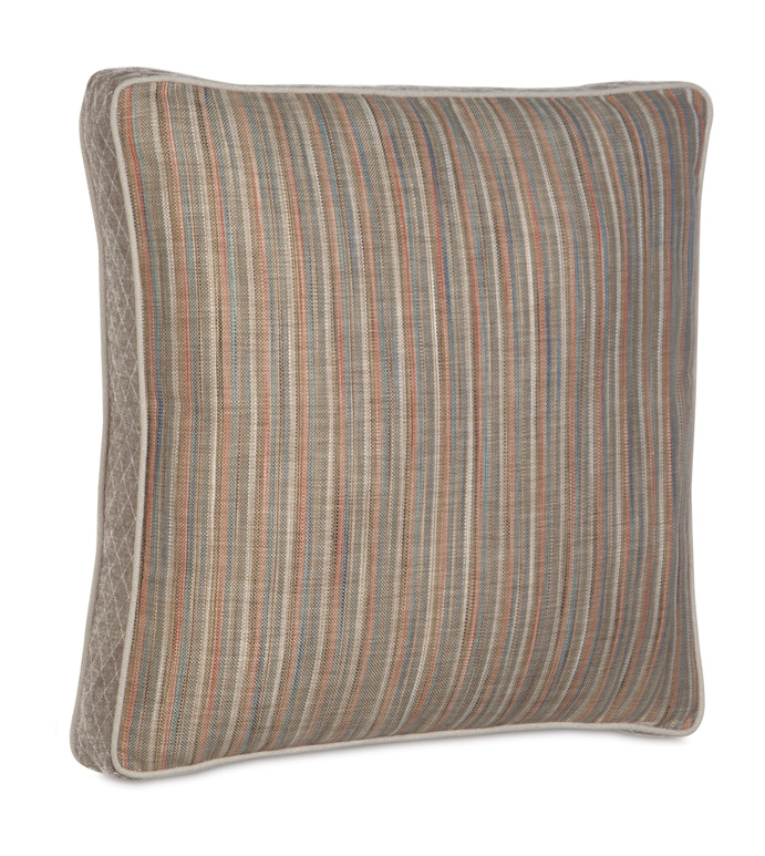LAMBERT KILIM EURO SHAM - neutral stripe pillow,striped euro sham,neutral striped,pin stripe,lake house bedding,beach house bedding,natural,neutral,boxed pillow,contemporary,transitional,tan,brown,oversized