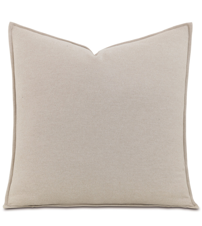Brera Flannel Euro Sham In Bisque - ,