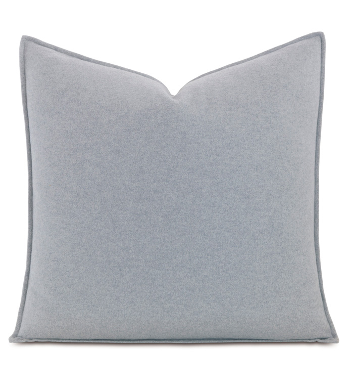 Brera Flannel Euro Sham in Gray - ,