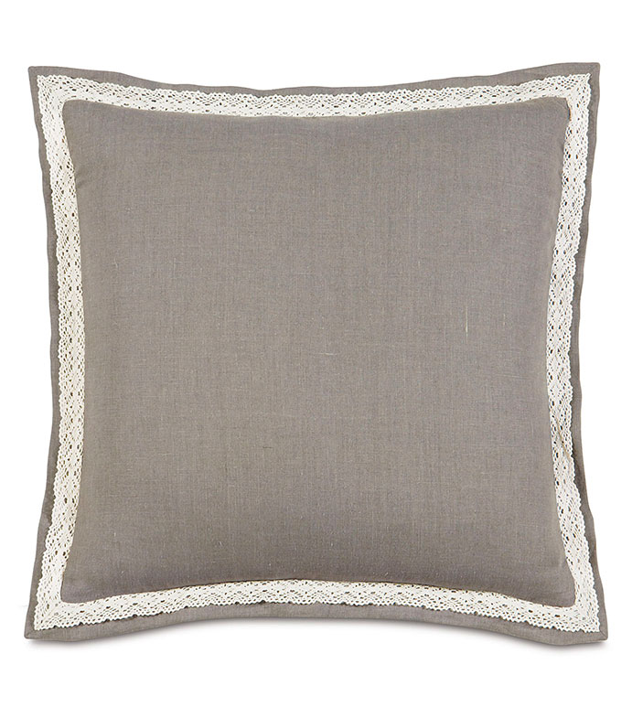 Breeze Linen Euro Sham - PILLOW,EURO SHAM,TAUPE PILLOW,TRADTIONAL PILLOW,TOSS CUSHION,THROW PILLOW,ACCENT PILLOW,LACE PILLOW,CUSTOMIZED PILLOW,DECORATIVE PILLOW,EURO PILLOW,LINEN PILLOW,TOP OF BED
