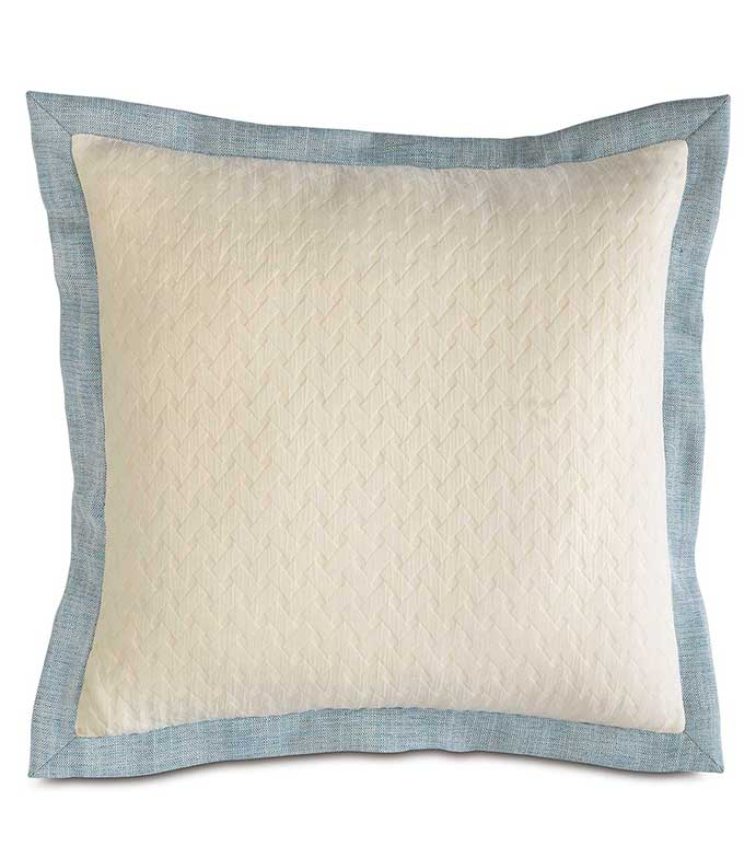 Briseyda Shell Euro Sham - BLUE AND WHITE EURO SHAM,OVERSIZED BLUE AND WHITE PILLOW,REVERSIBLE PILLOW,DECORATIVE BORDER,COASTAL PILLOW,BEACH HOUSE PILLOW,LAKE HOUSE,TROPICAL,OCEAN,CASUAL,PASTEL