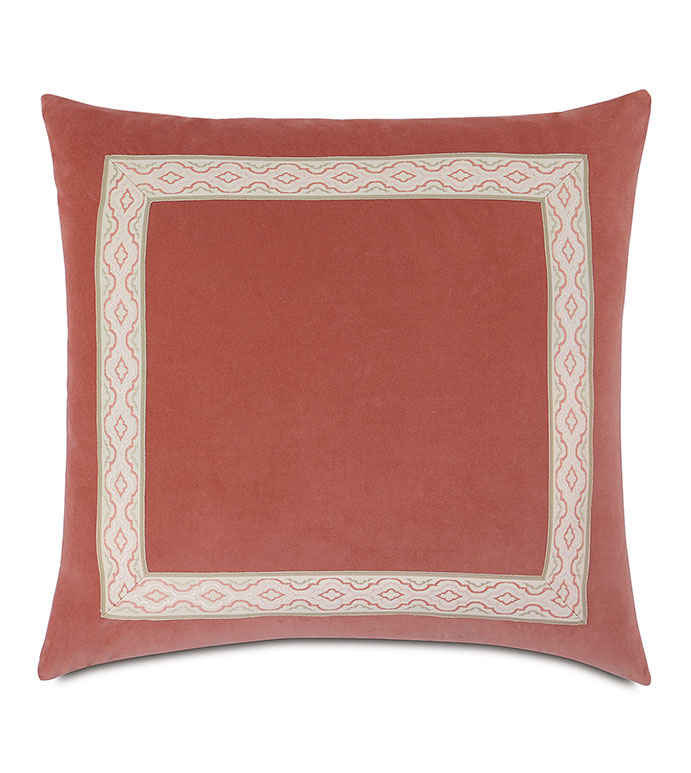 Lenneka Rose Euro Sham - pillow,euro sham,coral pillow,square pillow,toss cushion,throw pillow,accent pillow,double sided pillow,customized pillow,decorative pillow,euro pillow,bed pillow,high end pillow
