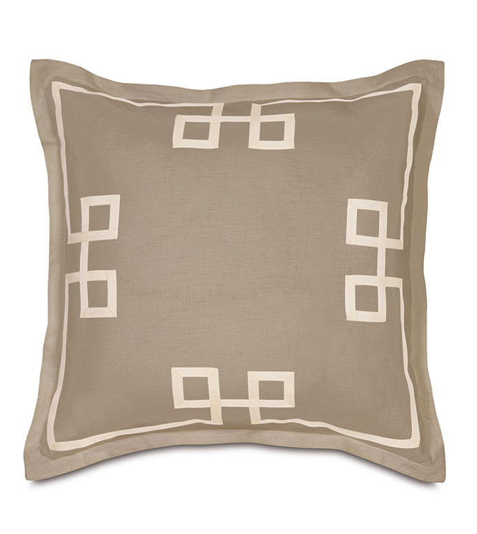 Resort Bisque Fret Euro Sham - ,