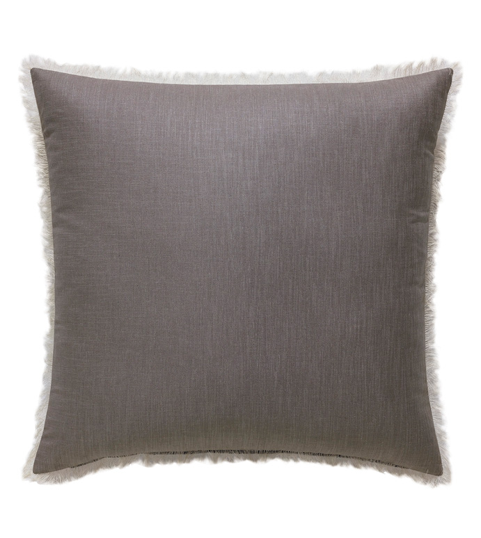 Naomi Brush Fringe Euro Sham in Purple - ACCENT PILLOW,THROW PILLOW,EURO SHAM,EASTERN ACCENTS,PURPLE,GLAM,WOVEN,SOLID,BRUSH FRINGE,