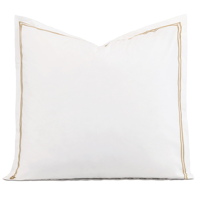 Enzo White/Antique Euro Sham - ,