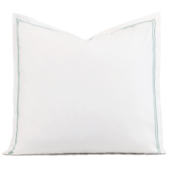 Enzo White/Lake Euro Sham - ,