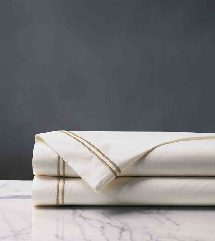 ENZO IVORY/ANTIQUE FLAT SHEET