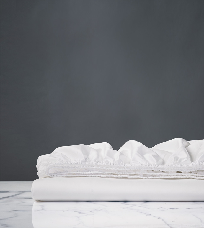 Nuvola Luxe White Fitted Sheet