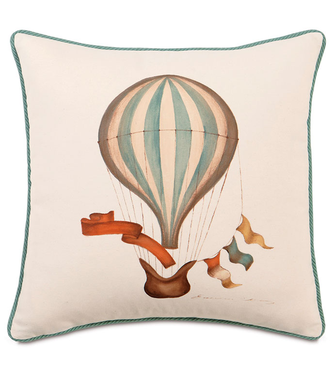 HAND-PAINTED BALLOON WITH CORD - ,