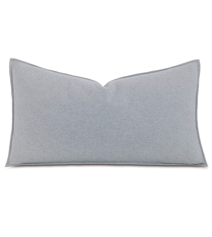 Brera Flannel King Sham In Gray - ,