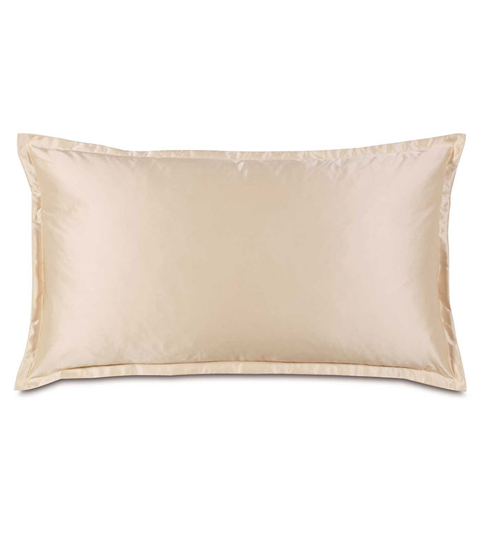 Marilyn Chamois King Sham - SHINY,TAN,GLAMOUR,METALLIC,ELEGANT,FEMININE,GOLD,LUXURY,CHAMPAGNE,PILLOW,DECORATIVE,HOME DECOR,BEIGE,LUXURY BEDDING,SILKY,ACCENT,DESIGN,FLANGE,BORDER,BED,DECORATIVE,SHAM,PILLOWCASE